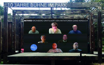 Zum 10-jährigen Bestehen der Bühne im Park dankt Aktives Kronberg den Initiatoren